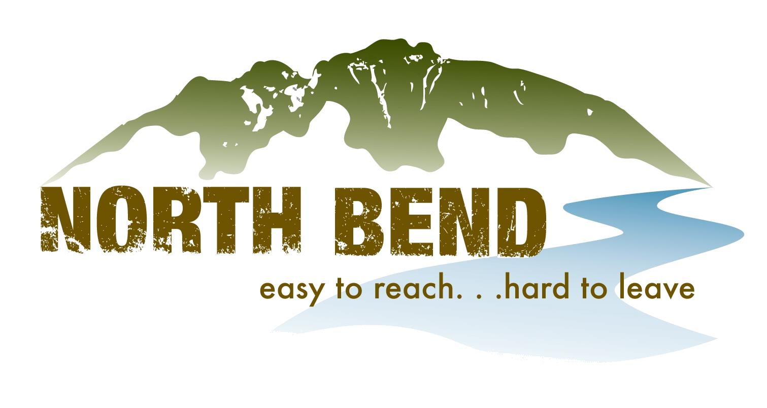 City of North Bend Logo with Mount Si in Background